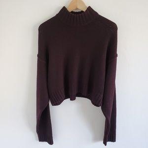 Wilfred Free Heinen Crop Turtleneck Sweater L